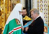 Святейший Патриарх Кирилл поздравил директора «Софрино» Е.А. Пархаева с 70-летием со дня рождения