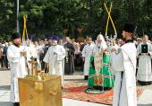 В день 70-летия начала Великой Отечественной войны Предстоятель Русской Церкви совершил литию на Преображенском кладбище г. Москвы