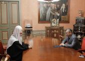 Святейший Патриарх Кирилл принял Президента Республики Южная Осетия Э.Д. Кокойты
