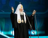 Святейший Патриарх Кирилл посетил праздник выпускников в Государственном Кремлевском дворце