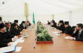 Предстоятель Русской Церкви встретился с руководителями пограничных регионов России, Украины и Белоруссии и правящими архиереями пограничных епархий