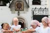 Патриаршее служение в Марфо-Мариинской обители в день памяти святых благоверных Петра и Февронии