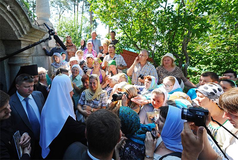 Патриарший визит на Валаам. Посещение Гефсиманского и Воскресенского скитов