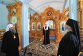 Святейший Патриарх Кирилл посетил Гефсиманский и Воскресенский скиты Валаамского монастыря