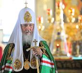 Слово Святейшего Патриарха Кирилла к братии Валаамского монастыря в Спасо-Преображенском соборе обители