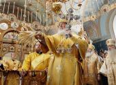 Предстоятель Русской Церкви совершил великое освящение верхнего храма Всехсвятского скита Валаамского монастыря и Божественную литургию в новоосвященном храме