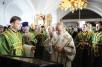 Патриарший визит на Валаам. Всенощное бдение в нижнем храме Спасо-Преображенского собора в канун дня памяти преподобных Сергия и Германа Валаамских