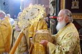 В день памяти святых первоверховных апостолов Петра и Павла Предстоятель Русской Церкви совершил Божественную литургию в Покровском соборе на Красной площади
