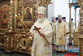 Предстоятель Русской Церкви совершил Божественную литургию в храме Двенадцати апостолов Патриарших палат Московского Кремля