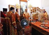 В день памяти святых Космы и Дамиана Патриарший экзарх всея Беларуси совершил Литургию в Космо-Дамиановском храме Слуцка