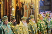 Патриаршее служение в Успенском соборе Троице-Сергиевой лавры в день памяти прп. Сергия Радонежского