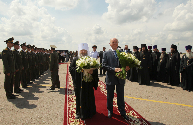 Первосвятительский визит в Мордовию. Встреча в аэропорту Саранска