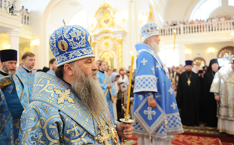 Первосвятительский визит в Мордовию. Всенощное бдение в кафедральном Свято-Феодоровском соборе г. Саранска