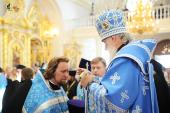 Предстоятель Русской Церкви совершил всенощное бдение в кафедральном Свято-Феодоровском соборе г. Саранска