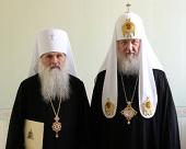 Святейший Патриарх Кирилл совершил чин возведения архиепископа Ташкентского и Узбекистанского Викентия в сан митрополита