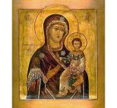 В праздник Смоленской иконы Божией Матери Святейший Патриарх Кирилл молился за Литургией в домовом храме Патриаршей резиденции в Переделкине