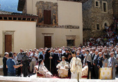 Паломническая делегация Русской Православной Церкви приняла участие в Божественной литургии в монастыре Панагия Сумела