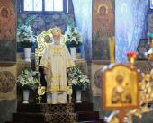 Предстоятель Русской Церкви возглавил торжества, посвященные 20-летию возрождения Новоспасского монастыря