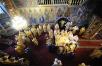 Патриаршее служение в Преображенском соборе Новоспасского монастыря. Хиротония архимандрита Игнатия (Депутатова) во епископа Шахтинского и Миллеровского