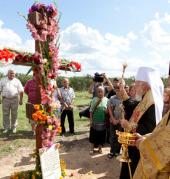 Блаженнейший митрополит Владимир совершил чин закладки храмового комплекса в селе Демидов Киевской области