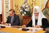 В Храме Христа Спасителя состоялось заседание Комиссии по сохранению духовного, культурного и природного наследия Соловецкого архипелага