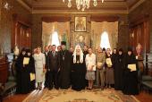Святейший Патриарх Кирилл вручил награды сотрудникам Московской Патриархии, отмечающим в 2011 году юбилейные и памятные даты