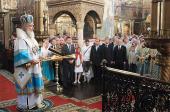 В праздник Успения Пресвятой Богородицы Предстоятель Русской Церкви совершил Божественную литургию в Патриаршем Успенском соборе Кремля