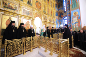 Предстоятель Русской Православной Церкви посетил Спасо-Преображенский кафедральный собор города Абакана