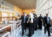 Святейший Патриарх Кирилл посетил Саяно-Шушенскую ГЭС