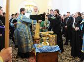 Святейший Патриарх Кирилл совершил малое освящение Воскресенского кафедрального собора г. Кызыла