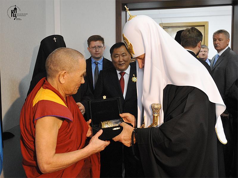 Первосвятительский визит в Абаканскую епархию. Встреча с главой республики Тыва и духовным руководителем тувинских буддистов