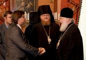 Святейший Патриарх Кирилл встретился с членами Совета директоров телеканала «Спас»