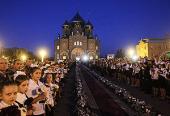 Предстоятель Русской Церкви посетил Свято-Владимирский кафедральный собор Луганска