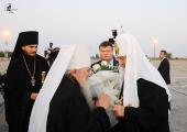 Святейший Патриарх Кирилл прибыл с Первосвятительским визитом в Луганск
