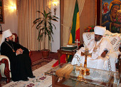 Состоялась встреча митрополита Волоколамского Илариона с Патриархом Эфиопским Абуной Павлом
