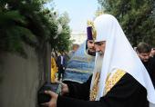 Предстоятель Русской Церкви освятил закладной камень в основание храма на территории Луганской областной детской больницы