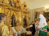 Святейший Патриарх Кирилл освятил часовню на месте погребения святителя Иоасафа Белгородского и поклонился его честным мощам