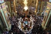 В Благовещенском кафедральном соборе Харькова состоялось отпевание и погребение митрополита Никодима (Руснака)