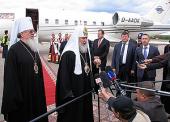 Святейший Патриарх Кирилл прибыл в Воронеж