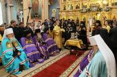 Святейший Патриарх Кирилл возглавил наречение архимандрита Андрея (Тарасова) во епископа Острогожского, викария Воронежской епархии