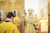 В неделю 15-ю по Пятидесятнице, пред Воздвижением, Предстоятель Русской Церкви совершил Божественную литургию в Воскресенском Ново-Иерусалимском ставропигиальном монастыре