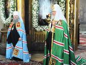 Проповедь Святейшего Патриарха Кирилла в праздник Воздвижения Креста Господня в храме свт. Мартина Исповедника
