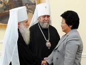 Митрополит Омский Владимир и митрополит Среднеазиатский Викентий встретились с Президентом Киргизской Республики