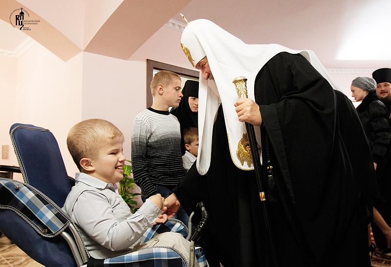 Первосвятительский визит в Черновицкую епархию. Освящение дома детей-инвалидов при Вознесенском Банченском монастыре
