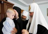 Предстоятель Русской Церкви посетил детский приют Вознесенского Банченского монастыря в селе Молница