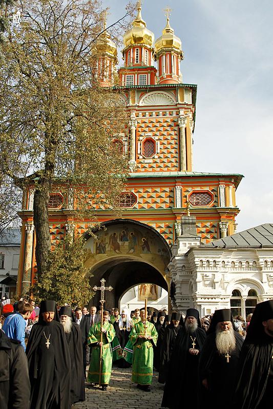 Патриаршее служение в Троице-Сергиевой лавре в канун дня памяти преподобного Сергия, игумена Радонежского