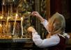 Патриаршее служение в Успенском соборе Троице-Сергиевой лавры в день преставления преподобного Сергия Радонежского