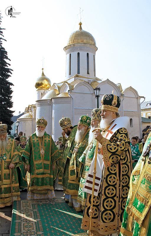 Соборе троице сергиевой лавры