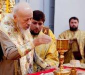 Блаженнейший митрополит Владимир совершил Литургию в Свято-Пантелеимоновом монастыре Киева (Феофании)