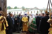 В ходе Первосвятительского визита в Молдову Предстоятель Русской Церкви совершил малое освящение храма Рождества Пресвятой Богородицы Курковского монастыря